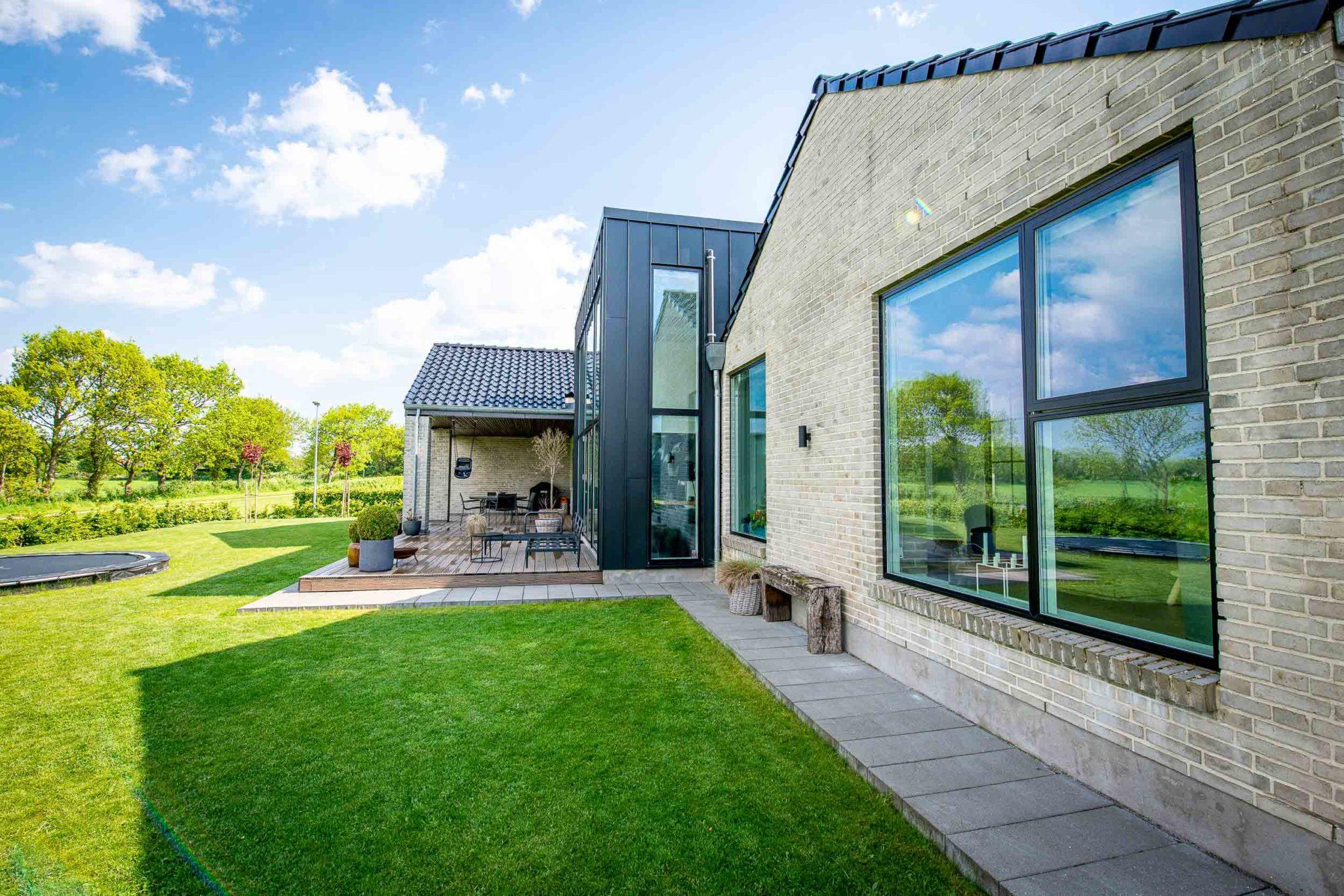 Arkitekttegnet hus i Brørup