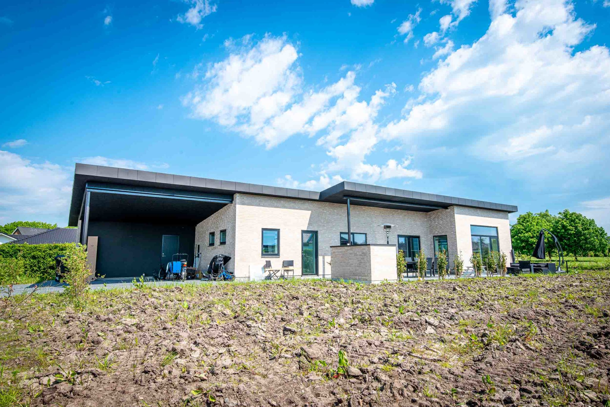 Arkitekttegnet hus i Rødding